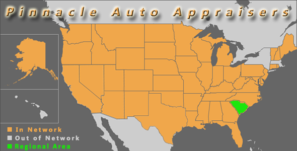 map south carolina pinnacle auto appraisal appraiser diminished value inspection